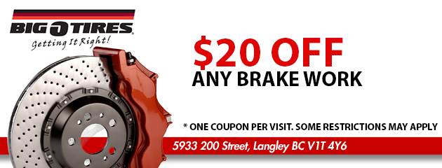 $20 OFF Any Brake Work