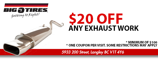 $20 OFF Any Exhaust Work
