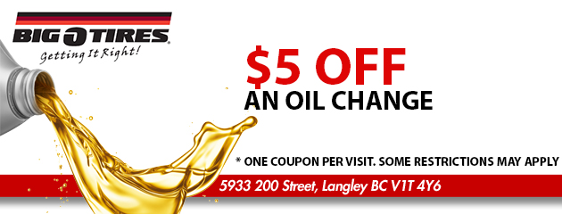 $5 OFF An Oil Change