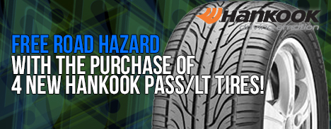 FREE Road Hazard with Hankook Tire Purchase