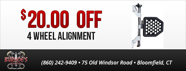 $20 OFF 4 wheel alignment