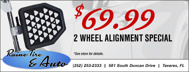 2 Wheel Alignment Special - Only $69.99!