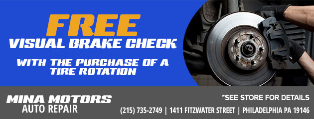 Free Visual Brake Check with Tire Rotation Purchase