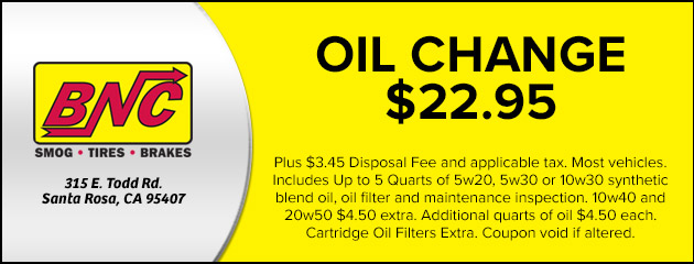 oil change coupon santa rosa ca