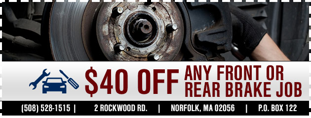 $40 off any front or rear brake job