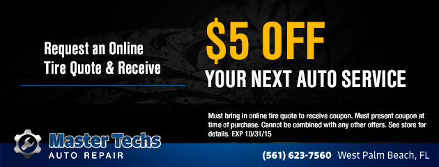 $5 Off Your Next Auto Service Coupon