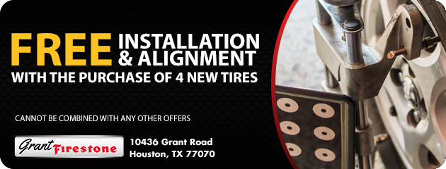 FREE Installation & Alignment with the purchase of 4 tires