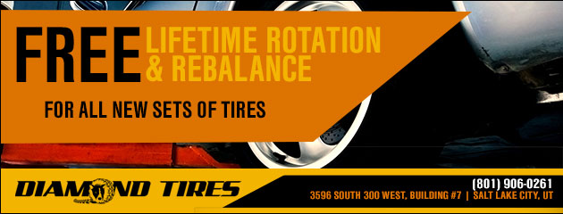 Free lifetime rotation and rebalance for all new sets of tires