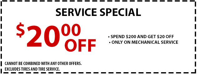 Service Special- $20 OFF