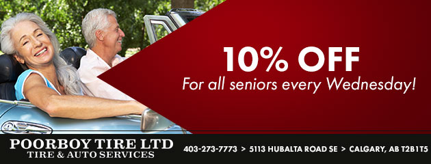 10% off for all seniors every Wednesday!