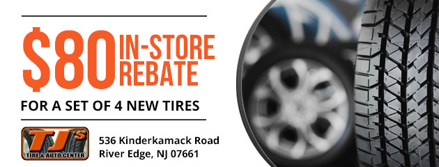 $80 in store rebate for a set of 4 new tires
