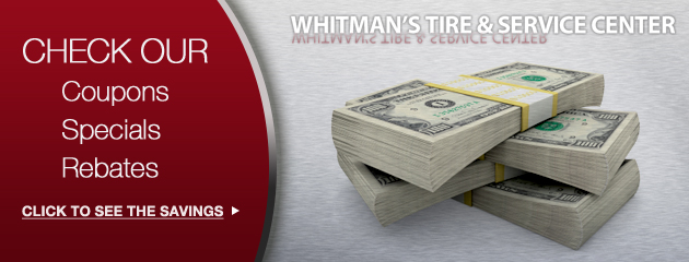 Whitmans Tire & Service Center Savings